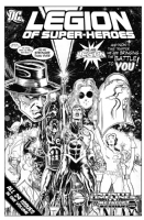 Legion of Superheroes Homage to Tales Of The Green Lantern Corps Issue 1 ( Infinite Timelines : A Metallic Messiah - The Hardcover Edition ) Comic Art