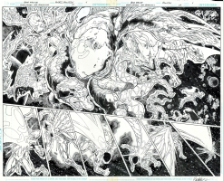 Green Lantern: New Guardians Issue 24 Pages 4 and 5 DPS Comic Art
