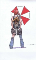Milla Jovovich Resident Evil Poster Wall by Cary Nord, Comic Art