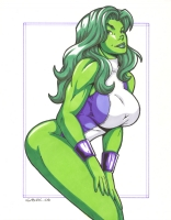 She Hulk by Garrett Blair Comic Art