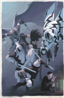 Uncanny X-Force 4 Cover Comic Art
