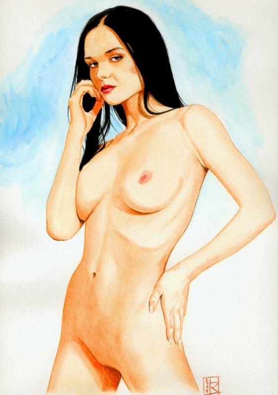 Katie Fey (Nudity!) Comic Art