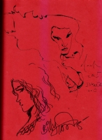 Red Sonja quick sketches inside The Artbook of Red Sonja, by Billy Tan (Popcon Jakarta 2015), and David Mack (Indonesia Comic Con 2015), Comic Art