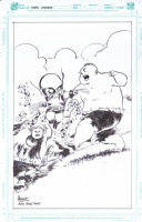 Wolverine vs Hulk, Re-creation of Herb Trimpe's Hulk #181 cover by Ferry Ickhwano, for his sketchbook cover., Comic Art