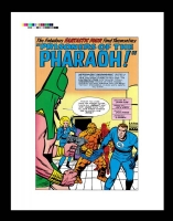 fantastic four # 19 rare production art Comic Art