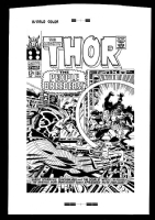thor # 134  / giant cover rare production art Comic Art