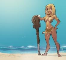 Polynesian Amazon Comic Art