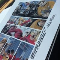 JK Woodward  Star Trek City on the Edge of Forever signed by Harlan Ellison Comic Art