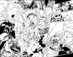 Brad Walker - Green Lantern New Guardians Issue 26 Page 6 & 7 Comic Art