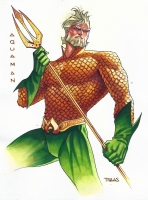Thony Silas - Aquaman Color Sketch Comic Art