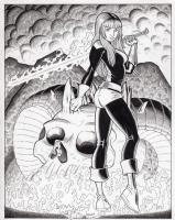 Art Adams Walden Wong Magik X-men Illyana Rasputin Commission Pinup Comic Art