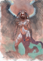 Esad Ribic Angelus commission London Comic Con 2015 Top Cow Witchblade Darkness Comic Art