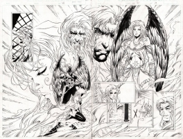 David Finch's Ascension #10 pg 18-19 Brian Ching Comic Art