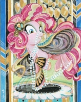 Pinkie Pie Art Deco Style by Sara Richard Comic Art