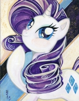 Rarity Head Shot By Sara Richard Comic Art