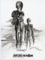 Star Trek / Doctor Who: Assimilation original art by J.K. Woodward Comic Art