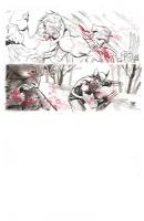Wolverine Vs. Sabretooth Jampiece Comic Art