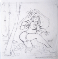 Bode Broad Pencil Sketch Comic Art