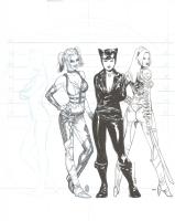 Arkham (Gotham) City Sirens Jam - Harley Quinn, Poison Ivy, Catwoman, Talia al Ghul Comic Art