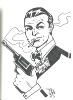 Sean Connery James Bond Comic Art