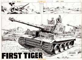 Russ Heath -- Easy's First Tiger Comic Art
