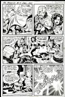 Jack KIRBY 1973 MR. MIRACLE 17 pg 15 SFATT ! POW ! POW ! SPAANNNGG ! Comic Art