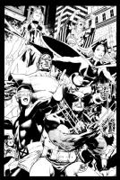 X-Men commission Wolverine Ororo Cyclops - Paulo Siqueira Comic Art