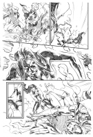 Red She Hulk #65 pg6 - RSH battles Loki and Doctor Doom Comic Art