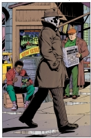 Watchmen - Rorschach at the newstand Colour - Dave Gibbons & John Higgins Comic Art