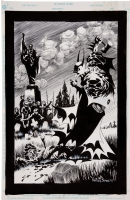 Kelley Jones Batman Red Rain Promo Comic Art
