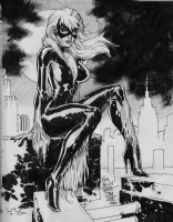 Jim Lee Black Cat Sketchbook Commission Comic Art