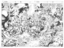 Jim Lee Scott Williams X-Men Comic Art