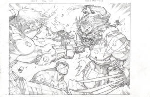 Joe Madureira Ultimates #3, pg 2-3 Comic Art