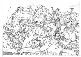 Joe Madureira Battle Chasers Poster Comic Art