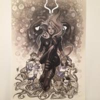 Adam Hughes Inhumans/Medusa Comic Art