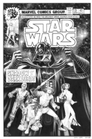 Arthur Adams Star Wars #21 Cover Recreation Comic Art