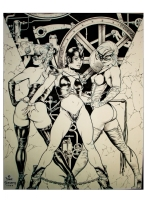 Dave Stevens Cheval Noir #1 Cover Comic Art