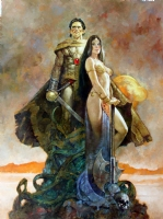 John Carter & dejah Thoris Comic Art