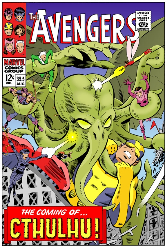 Avengers vs Cthulhu Comic Art
