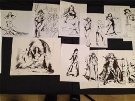 VAMPIRELLA ROUGHS COLLECTION CHRIS CONIDIS Comic Art