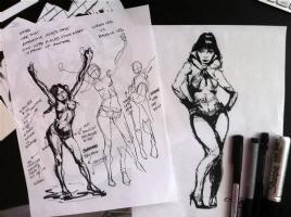 VAMPIRELLA SKETCH AND STUDY CHRIS CONIDIS Comic Art