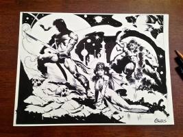 JOHN CARTER DEJAH THORIS APES OF MARS CHRIS CONIDIS Comic Art