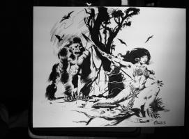 CAVEWOMAN TIGRESS, TIGRA APE RETRO STYLE CHRIS CONIDIS  Comic Art
