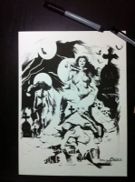 VAMPIRELLA CHRIS CONIDIS  Comic Art