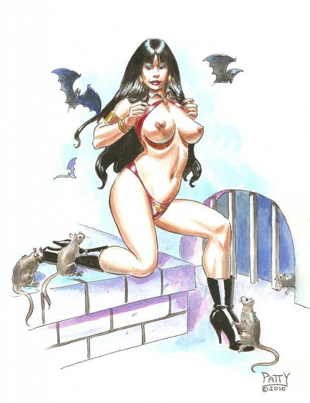 Vampirella Exposed by Patty Comic Art