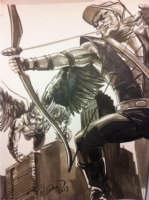 J.K. Woodward - Green Arrow and Hawkman 2013 Comic Art