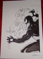 Ms. Marvel and Luke Cage vs. Venom Comic Art