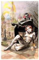 From Marvel, With Love: James Bond and Black Widow by Seth Frail Comic Art