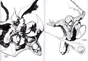 Spider-Man Vs. Hobgoblin Comic Art