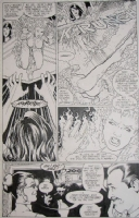 Fire vs Mary Marvel by Kevin Maguire in Formerly Known as the Justice League Comic Art